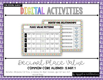 Grade 5 Digital Place Value Activities {5.NBT.1} For use with Google Slides™