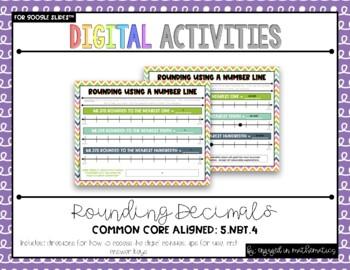 Grade 5 Digital Rounding Decimals Activities {5.NBT.4} For use w/ Google Slides™