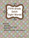 Grade 5 Dolch Sight Words