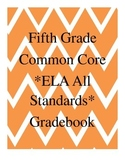 Grade 5 ELA Common Core Standard Grade Book *EDITABLE*