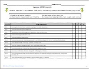 Grade 5 ELA Common Core Student Self Assessment