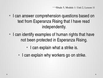 Grade 5 - ELA Esperanza Rising Module: Unit 2 Lesson 11