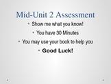 Grade 5 - ELA Esperanza Rising Module: Unit 2  MID Unit As