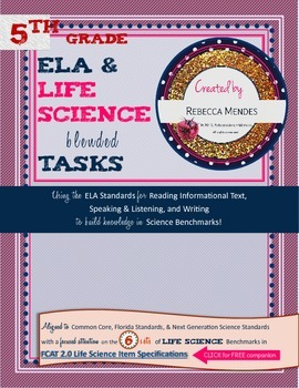 Interactive Science Notebook Grade 5 ELA & LIFE Science Blended Tasks