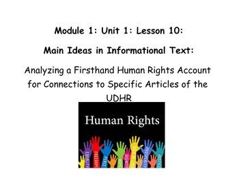 Grade 5 ELA Module 1, Unit 1, Lesson 10