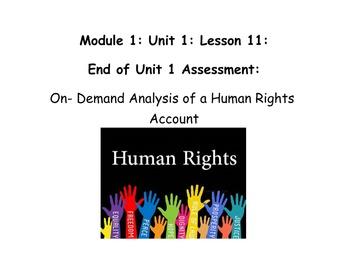 Grade 5 ELA Module 1, Unit 1, Lesson 11