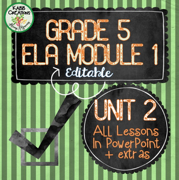 Grade 5 ELA Module 1 Unit 2 Lesson Guides in PowerPoint Fully Editable!