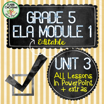 Grade 5 ELA Module 1 Unit 3 Lesson Guides in PowerPoint Fully Editable!