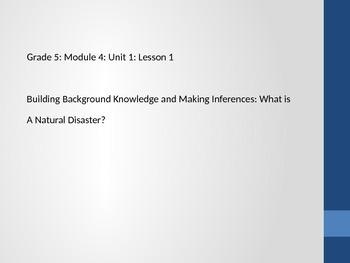 Grade 5 ELA Module 4 Unit 1 Lesson 1