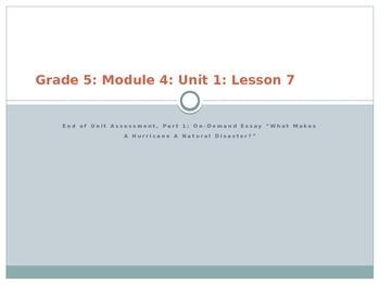 Grade 5 ELA Module 4 Unit 1 Lesson 7