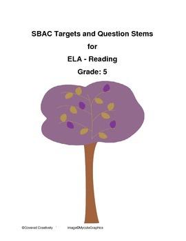 Grade 5 ELA - Reading Question Stems for SBAC