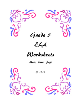 Grade 5 ELA Worksheets