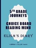 Grade 5: Elisa's Diary Journeys Resource Choice Board Menu Comprehension Rubric