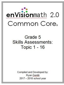 Grade 5 EnVision Math 2.0 Common Core Skills Assessments