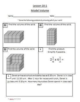 Grade 5 EnVision Math 2.0 Common Core Skills Assessments
