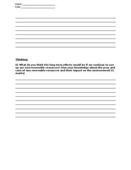Grade 5 Energy Test