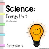 Grade 5 - Energy Unit