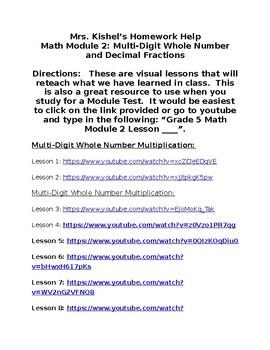 Grade 5 Engage NY Math Module 2 Homework Help