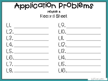 Grade 5 Engage NY Module 4 Application Problem Task Cards