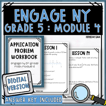 Grade 5 Engage NY Module 4 Application Problem Workbook