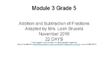 Grade 5 EngageNY Module 3