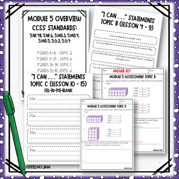 Grade 5 EngageNY Module 5 Topic Assessments