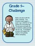 Grade 5 Engineering Design Challenge: Build a Structure