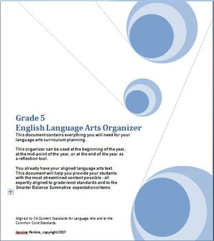 Grade 5 English Language Arts, CA Content Standards (CCS), Midyear Evaluation