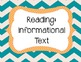 Grade 5 English Language Arts Common Core Posters {Chevron}