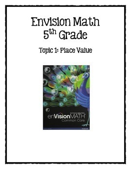 Grade 5 Envision Math Bundle