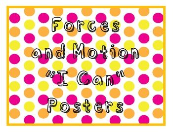 "Grade 5 Essential Standards ""I Can"" Posters - Science"