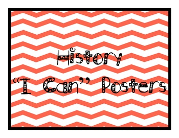 "Grade 5 Essential Standards ""I Can"" Posters - Social Studies"