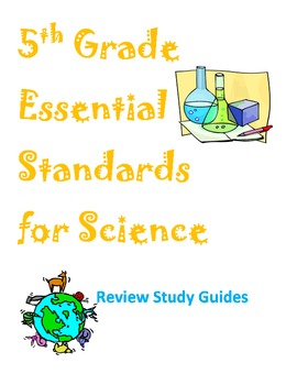 Grade 5 Essential Standards Study Guides and Review Quizzes - BUNDLE