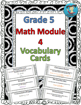 Grade 5 Math Module 4 Vocabulary Cards