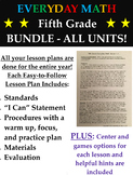 Grade 5 Everyday Math Lesson Plans for Fifth Graders - Ent