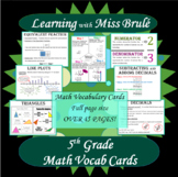 Grade 5 Math Vocab Cards/Posters