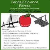 Grade 5 Forces Unit, Ontario Science Curriculum