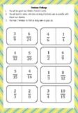 Grade 5, Fraction Game, Dominoes Challenge