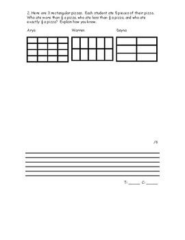 Grade 5 Fractions Test