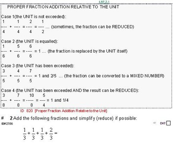 Grade 5 FRACTIONS UNIT 1: [Add w/different denoms]-4 worksheets, 7 quizzes