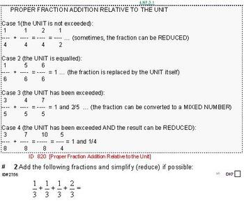 Grade 5 FRACTIONS UNIT 1: [Add w/different denoms]-4 worksheets, 7 quizzes