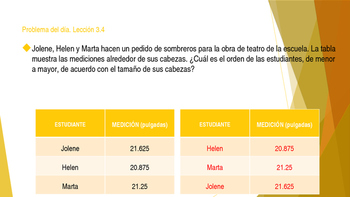 Grade 5 - GO MATH! Ch.3 Problem of the day (Spanish) / FREEBIE