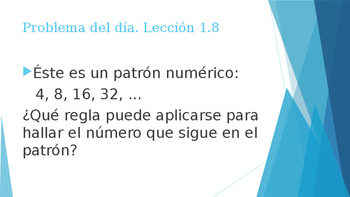 Grade 5 - GO MATH! Problem of the day (Spanish) / Chapter 1