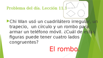 Grade 5 - GO MATH! Problem of the day (Spanish) / Chapter 11