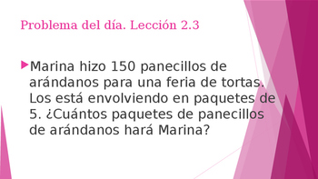 Grade 5 - GO MATH! Problem of the day (Spanish) / Chapter 2