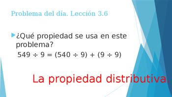 Grade 5 - GO MATH! Problem of the day (Spanish) / Chapter 3