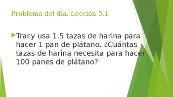 Grade 5 - GO MATH! Problem of the day (Spanish) / Chapter 5