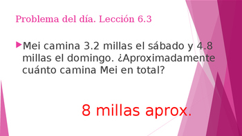 Grade 5 - GO MATH! Problem of the day (Spanish) / Chapter 6
