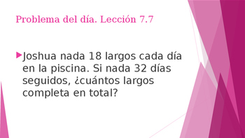 Grade 5 - GO MATH! Problem of the day (Spanish) / Chapter 7