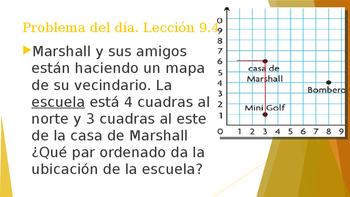 Grade 5 - GO MATH! Problem of the day (Spanish) / Chapter 9